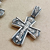 Украшения handmade. Livemaster - original item Cross with the faces of Saints. Silver 925 art.1061401. Handmade.