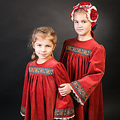 Русский стиль handmade. Livemaster - original item Dress in the Russian style for girls/Russian clothing. Handmade.