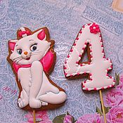 Сувениры и подарки handmade. Livemaster - original item Gingerbread kitty with a number. Handmade.
