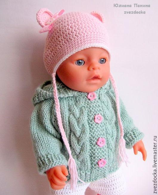 """Одежда для кукол ручной работы. Ярмарка Мастеров - ручная работа. Купить курточка """"Мятные косички""""  одежда для куклы Baby Born. Handmade."""