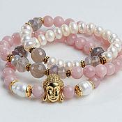 Украшения handmade. Livemaster - original item Triple bracelet beads with Buddha. Handmade.