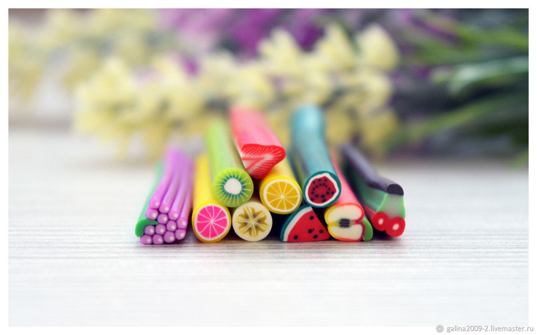 ФИМО - палочки набор фруктов  10 штук, Глина, Пушкино,  Фото №1
