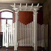 Для дома и интерьера handmade. Livemaster - original item PERGOLA WITH A GATE IN THE VICTORIAN STYLE. Handmade.