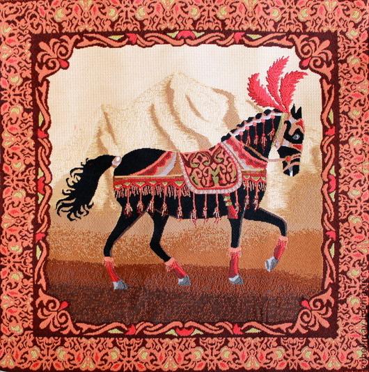 Шитье ручной работы. Ярмарка Мастеров - ручная работа. Купить Восток конь: гобеленовая заготовка без оверлока, 50-50 см. Handmade.