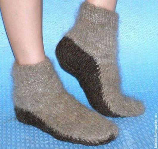 Носки, Чулки ручной работы. Ярмарка Мастеров - ручная работа. Купить Короткие носочки из собачьей шерсти. Handmade. Собачья шерсть