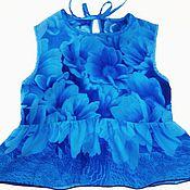 Одежда ручной работы. Ярмарка Мастеров - ручная работа Шелковая блузка с баской для девочки. Handmade.