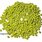 Материалы для творчества handmade. Livemaster - original item 10 grams of 10/0 seed Beads, Czech Preciosa 53430 Premium olive green naprosn. Handmade.