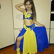 Одежда ручной работы. Ярмарка Мастеров - ручная работа Сине-желтый детский костюм для танца живота. Handmade.