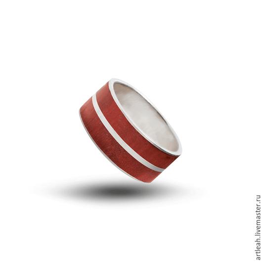 Кольца ручной работы. Ярмарка Мастеров - ручная работа. Купить Кольцо серебряное с двумя сортами деревьев.. Handmade. Кольцо серебряное