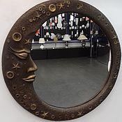 """Для дома и интерьера ручной работы. Ярмарка Мастеров - ручная работа Настенное зеркало """"Месяц"""". Handmade."""