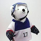 Куклы и игрушки ручной работы. Ярмарка Мастеров - ручная работа Мишка хоккеист. Handmade.