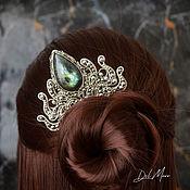 Украшения handmade. Livemaster - original item Melchior hair comb with labradorite