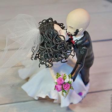 Свадебный салон ручной работы. Ярмарка Мастеров - ручная работа Свадебная фигурка на торт. свадьба. Handmade.