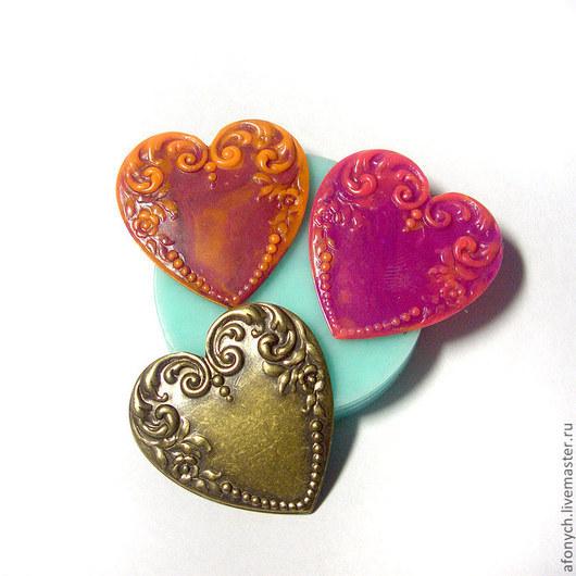 """Для украшений ручной работы. Ярмарка Мастеров - ручная работа. Купить Форма, молд """"Сердце 2"""" (арт.: 151). Handmade."""