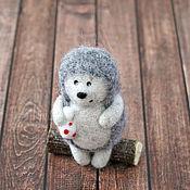 Куклы и игрушки ручной работы. Ярмарка Мастеров - ручная работа Ежик (игрушка из шерсти). Handmade.