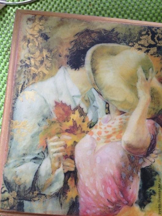 """Шкатулки ручной работы. Ярмарка Мастеров - ручная работа. Купить шкатулка""""свидание"""". Handmade. Разноцветный, пара, подарок девушке, осень"""