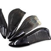 Русский стиль handmade. Livemaster - original item Comb from the horn of a Buffalo 12-14 cm. Handmade.