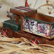 """Куклы и игрушки ручной работы. Ярмарка Мастеров - ручная работа Грузовичёк """"Весёлые игрушки!"""". Handmade."""