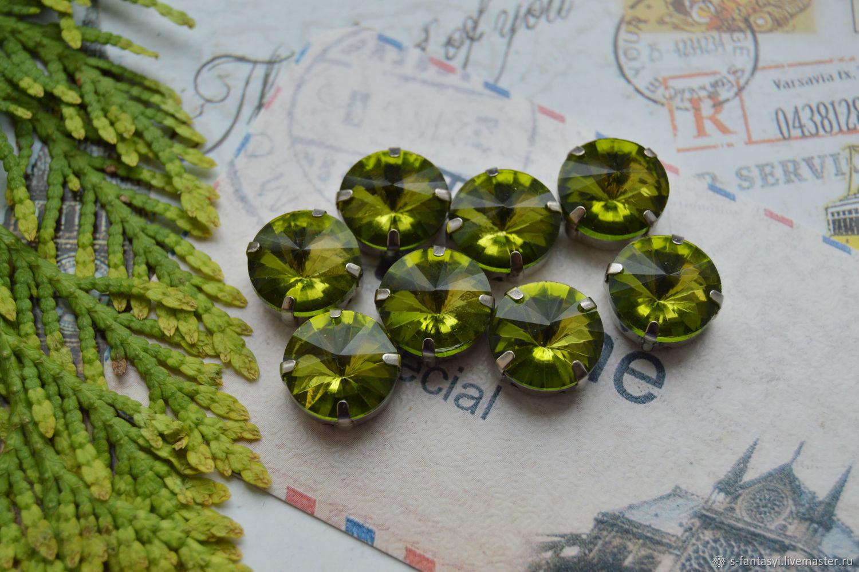 Rivoli 12 mm Olive, Cabochons, Stavropol,  Фото №1