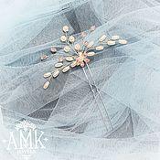 Украшения в прическу ручной работы. Ярмарка Мастеров - ручная работа Bridal hair pin, wedding hair pin, crystal hair pins. Handmade.