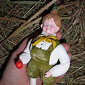 """Куклы и игрушки ручной работы. Ярмарка Мастеров - ручная работа Ретро игрушка подвеска """"Чиполлино..."""" аукцион. Handmade."""