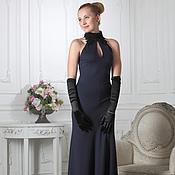 Одежда ручной работы. Ярмарка Мастеров - ручная работа 064:Вечернее платье годе в пол с кружевом, длинное вечернее платье. Handmade.