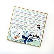 Открытки ручной работы. Ярмарка Мастеров - ручная работа Детская открытка Зайка мореплаватель. Handmade.
