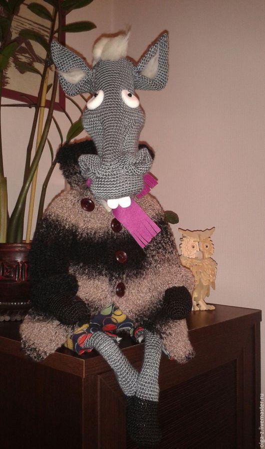 Игрушки животные, ручной работы. Ярмарка Мастеров - ручная работа. Купить Конь в пальто. Handmade. Разноцветный, игрушка крючком, сувенир
