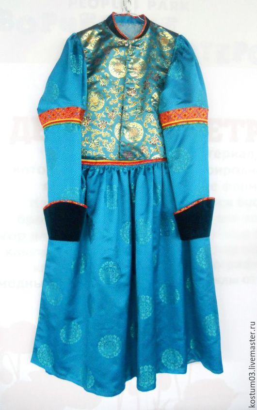 Этническая одежда ручной работы. Ярмарка Мастеров - ручная работа. Купить Бурятский национальный женский костюм (hамган дэгэл), жилет и шапка. Handmade.