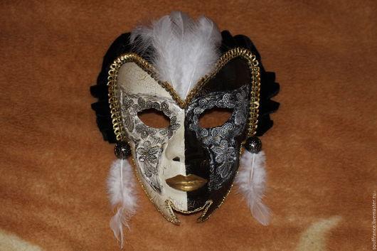 """Интерьерные  маски ручной работы. Ярмарка Мастеров - ручная работа. Купить Венецианская интерьерная маска """"Домино"""". Handmade. Комбинированный"""