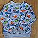 Одежда для мальчиков, ручной работы. Ярмарка Мастеров - ручная работа. Купить Свитшот для мальчика детский. Handmade. Комбинированный, динозавр, хлопок