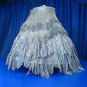 """Одежда ручной работы. Ярмарка Мастеров - ручная работа Юбка  стиль бохо на запахе """"Мраморная тёмно-серая"""". Handmade."""
