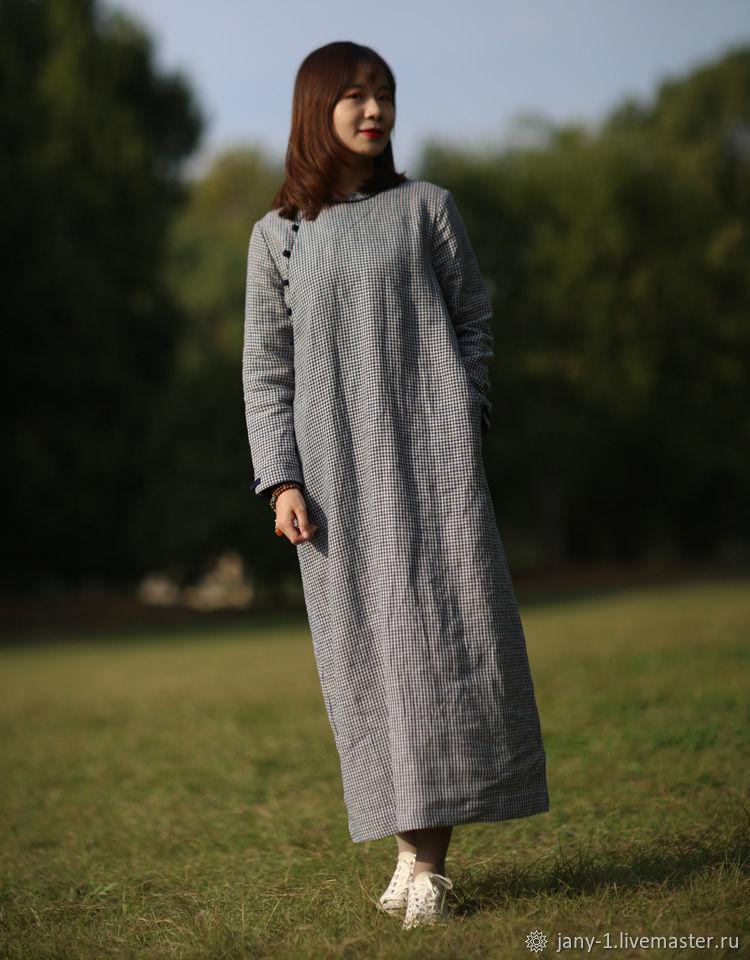 Китайский дизайн Инновационный дизайнсиний плед  платье, Юбки, Гуанчжоу,  Фото №1