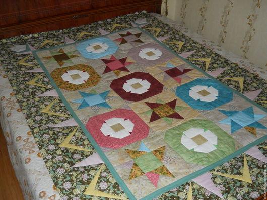 Текстиль, ковры ручной работы. Ярмарка Мастеров - ручная работа. Купить Одеяло КАМЕЛИЯ. Handmade. Лоскутное одеяло, американский хлопок