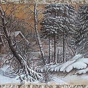 Картины и панно ручной работы. Ярмарка Мастеров - ручная работа картина на бересте. Handmade.