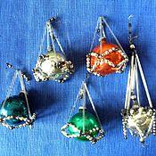 Винтажные игрушки ручной работы. Ярмарка Мастеров - ручная работа Елочные игрушки из стеклянных бус в ассортименте.. Handmade.
