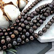 Материалы для творчества handmade. Livemaster - original item 10 PCs. Natural pearl approx. 6-6,5 mm dark (5014). Handmade.