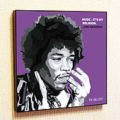 Подарки к праздникам handmade. Livemaster - original item Picture poster by Jimi Hendrix Pop art. Handmade.