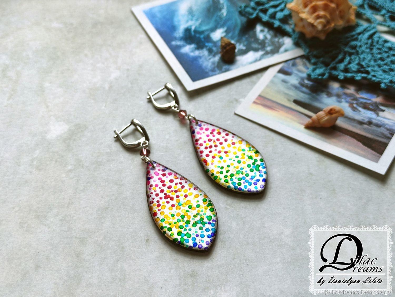 Earrings 'Mermaid Tail', Earrings, Dzerzhinsky,  Фото №1