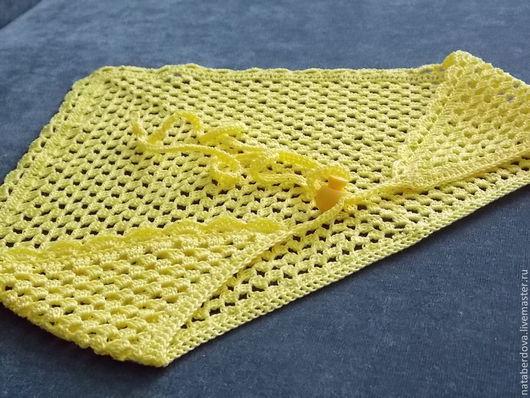 "Панамы ручной работы. Ярмарка Мастеров - ручная работа. Купить Косынка летняя вязаная ""Yellow"". Handmade. Желтый, косынка вязаная"