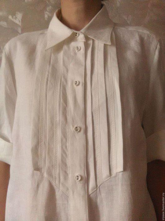 Блузки ручной работы. Ярмарка Мастеров - ручная работа. Купить Белая льняная блузка. Handmade. Белый, большой размер, рубашка женская