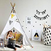 """Для дома и интерьера ручной работы. Ярмарка Мастеров - ручная работа Детский вигвам """"Белый домик"""". Handmade."""