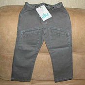 Винтаж handmade. Livemaster - original item Vintage clothing: Grey jeans for boy new size 104. Handmade.