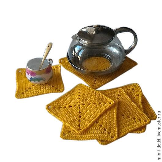 Кухня ручной работы. Ярмарка Мастеров - ручная работа. Купить Подставка под горячее, под кружки, под чайник, желтый. Handmade.