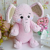 Куклы и игрушки handmade. Livemaster - original item Pink elephant woven,in stock. Handmade.