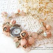Украшения handmade. Livemaster - original item Women`s wrist watch. Watch bracelet with flowers leather. Watches women. Handmade.