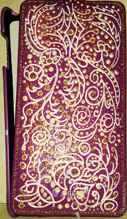 Для телефонов ручной работы. Ярмарка Мастеров - ручная работа. Купить Чехол для телефона с росписью. Handmade. Разноцветный, чехол для планшета