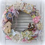 Для дома и интерьера ручной работы. Ярмарка Мастеров - ручная работа Весенний интерьерный венок на дверь. Handmade.