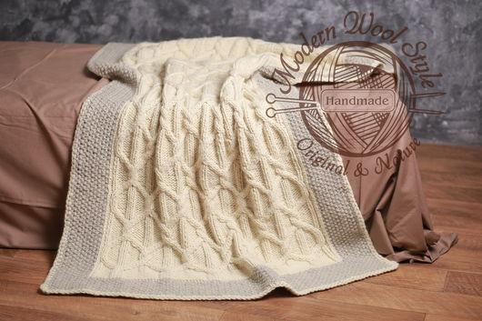 Текстиль, ковры ручной работы. Ярмарка Мастеров - ручная работа. Купить Плед PEARL, шерсть мериноса. Handmade. Комбинированный, толстый
