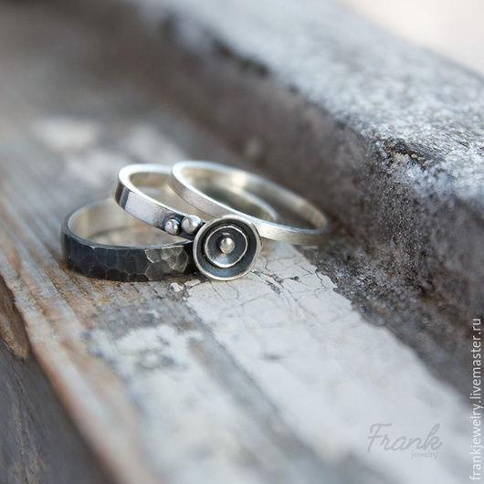 Кольца ручной работы. Ярмарка Мастеров - ручная работа. Купить сет Пунь. Handmade. Серебряный, серебренное кольцо, недорогое колечко